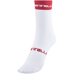 Castelli Free 9 Socks white/red